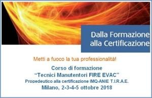 Corso EVAC-Fire 2-5 Ottobre 2018